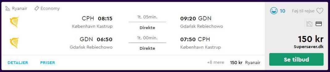 Billige flybilletter til Gdansk - Polen