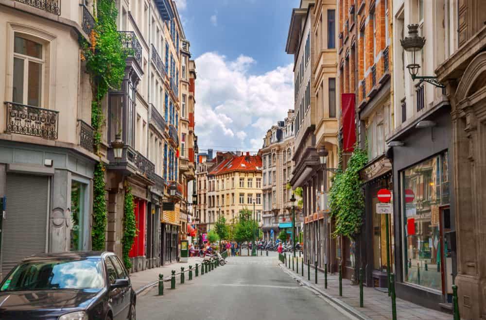 Gadebillede - Bruxelles i Belgien