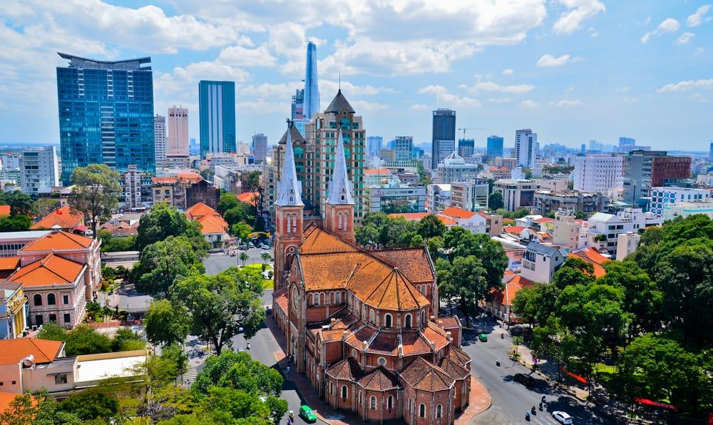 Notre Dame katedralen - Ho Chi Minh City i Vietnam