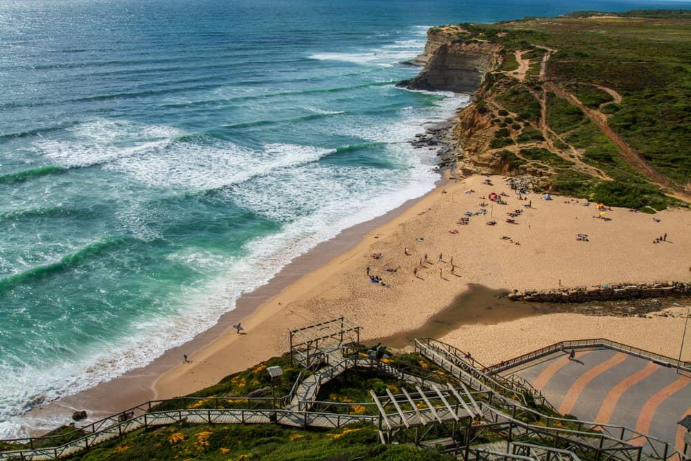 Ericeira stranden i Portugal