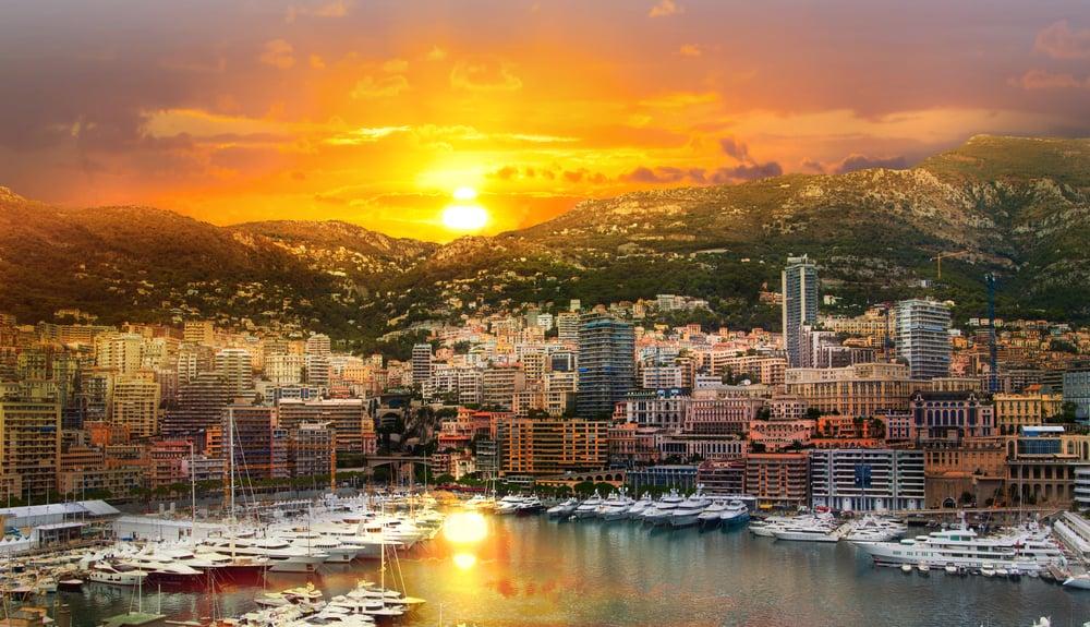 Monaco ved Guldkysten i Frankrig