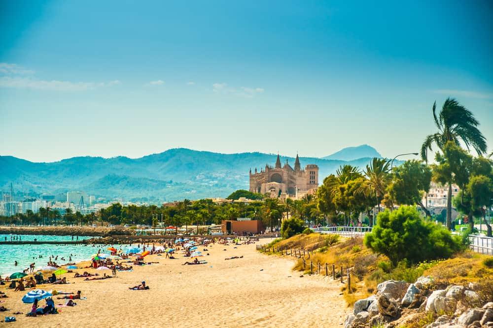 Palma på Mallorca i Spanien