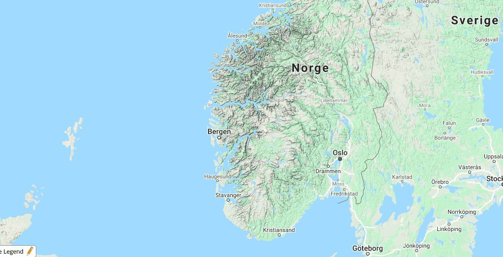 norge kort oslo rejser