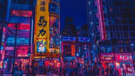 Japan - Tokyo, neonlys - rejser