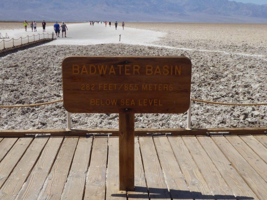 California, Death Valley, Badwater Basin, salt tørke, reise