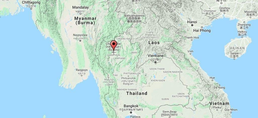 Thailand Chiang Mai Map Travel