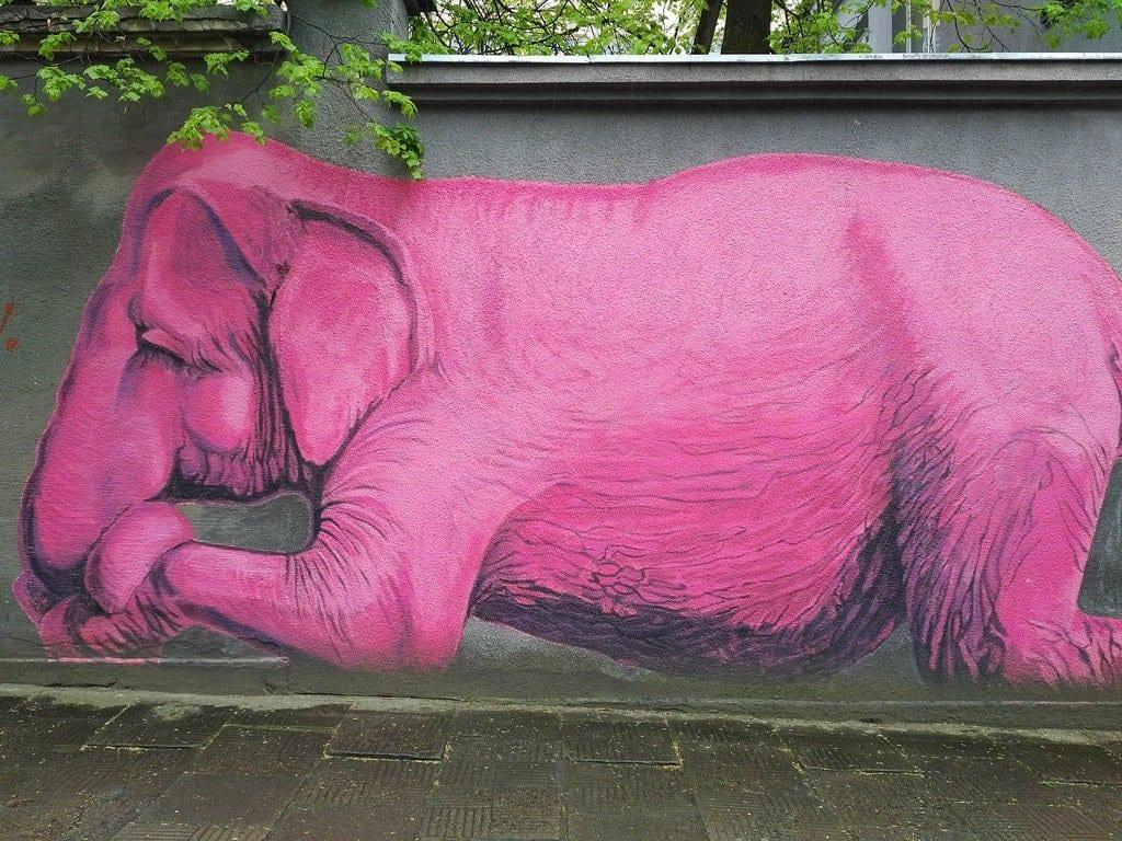 カウナス-カウナスでの象のストリートアート体験