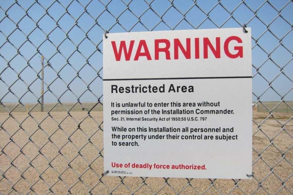 USA - South Dakota, Minutemen, skilt - rejser