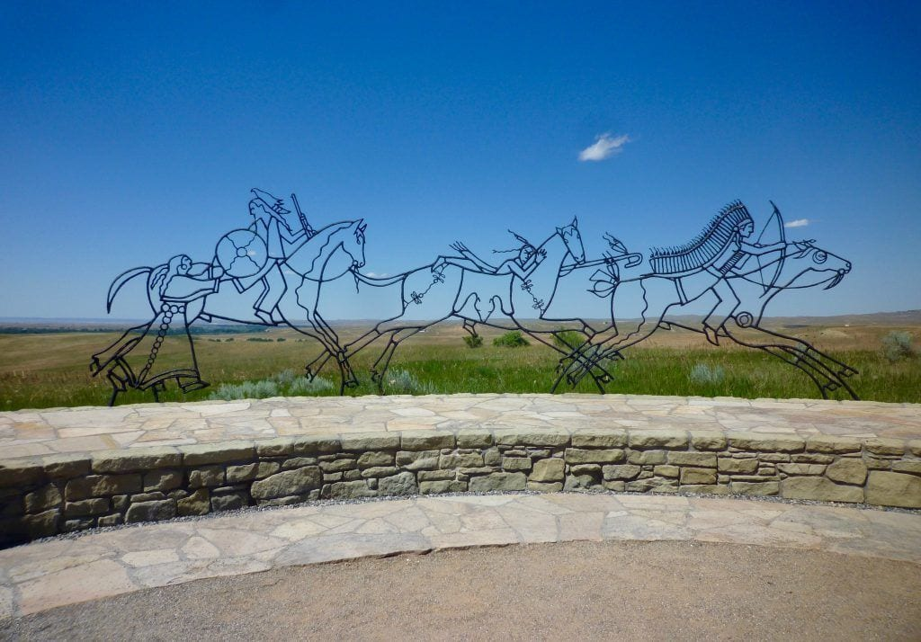 USA - Monument i Litte Big Horn Battlefield Indianere - rejser
