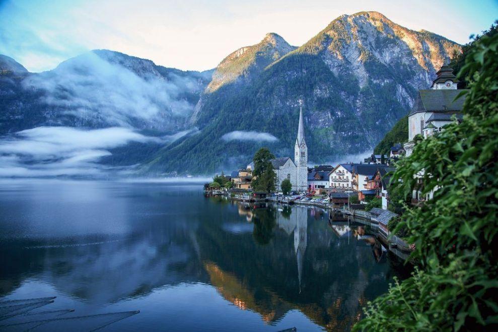 Østrig - hallstatt søen