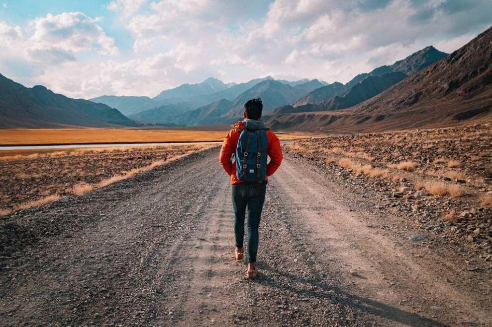 Gåtur, vej, rejser