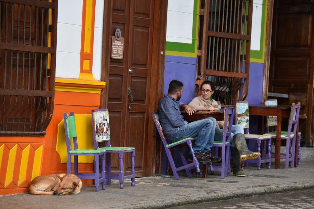 Colombia - Jardin - cafe, travel to Colombia - travel