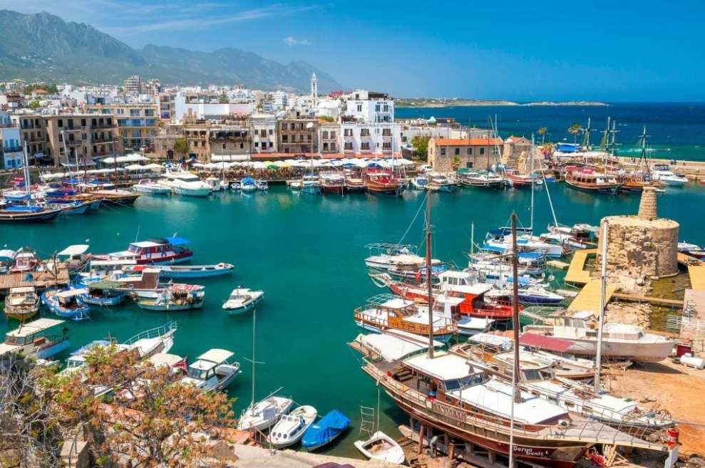 Cipro - Cipro del nord porto di kyrenia - viaggi - mappa di cipro