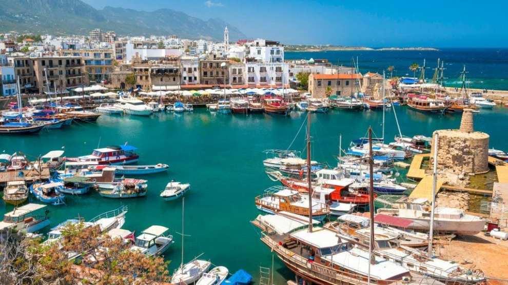 Chypre - Chypre du nord du port de Kyrenia - Voyage - Carte de Chypre