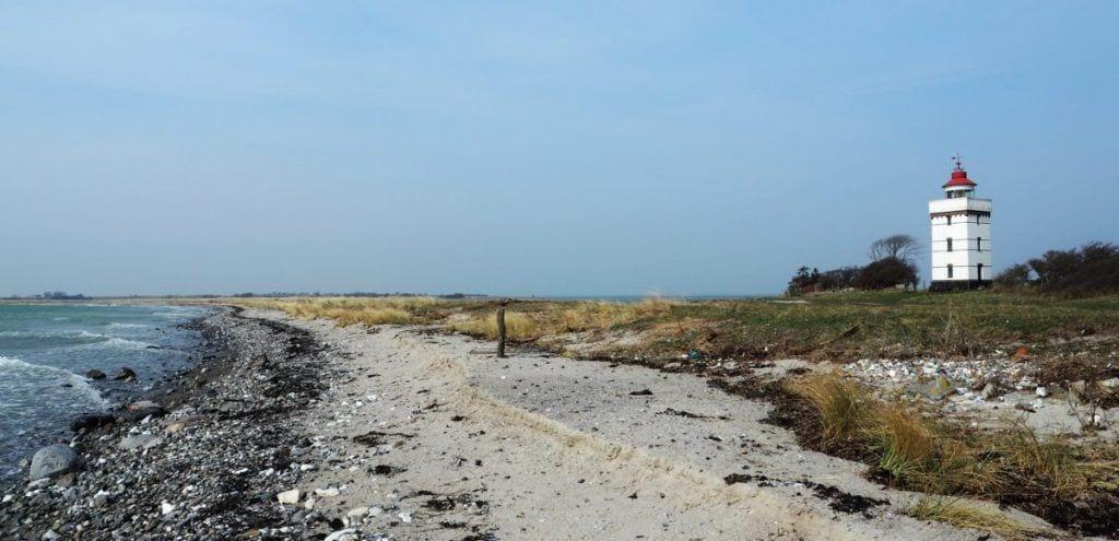 Agersø - phare de la plage du Danemark - Voyage