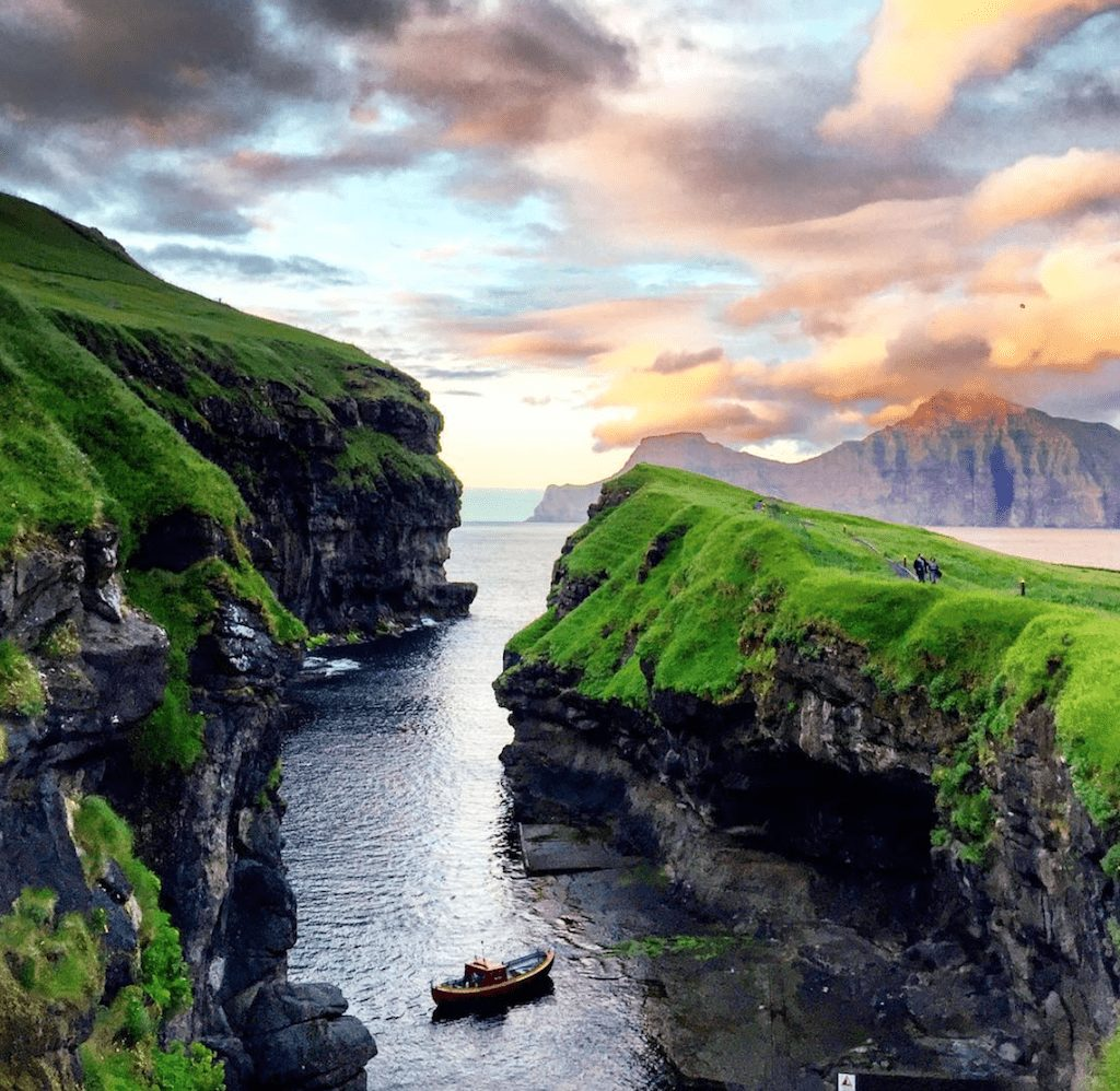 Farski Otoci - brod voda priroda Gjógv - putovanje