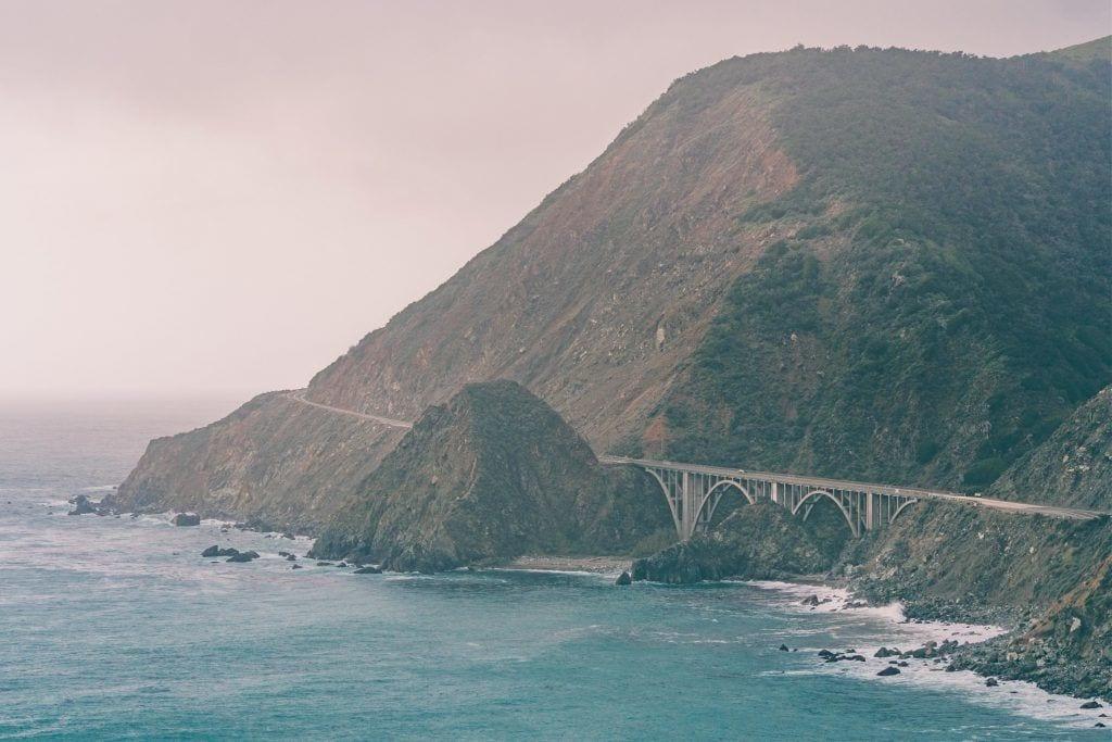 संयुक्त राज्य अमेरिका - कैलिफोर्निया, तट, प्रकृति, बड़ी सुर - यात्रा