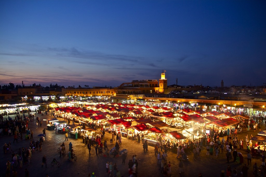 Marokko - mensenmarkt Marrakech - reizen