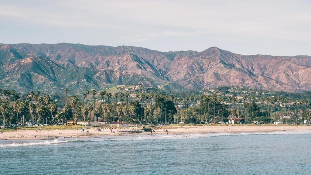 संयुक्त राज्य अमेरिका - समुद्र तट, तट, सांता बारबरा - यात्रा - सड़क यात्रा यूएसए