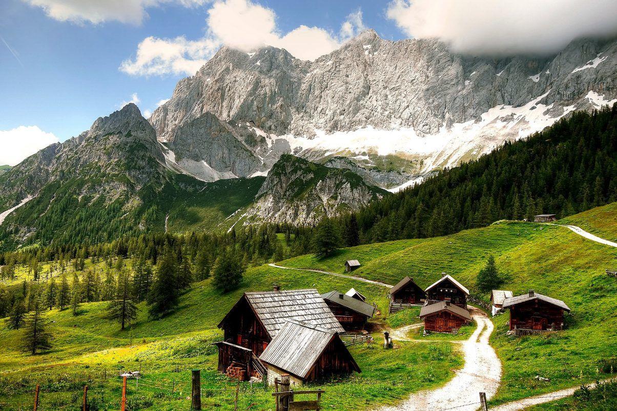 Avusturya-Schladming-dachstein-kabinleri-dağ-izi-seyahat