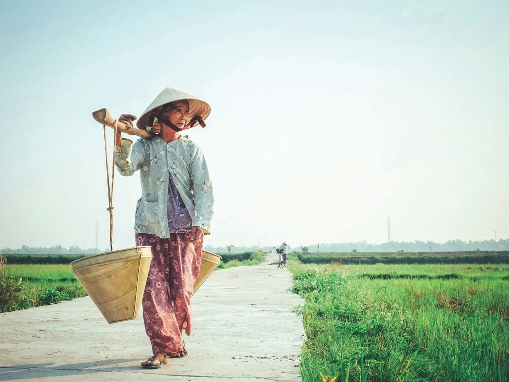 Vietnam - woman - traveling