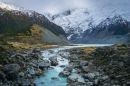 New Zealand - flod - bjerge
