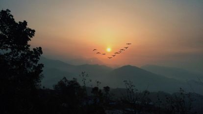 nepal - solnedgang - rejser