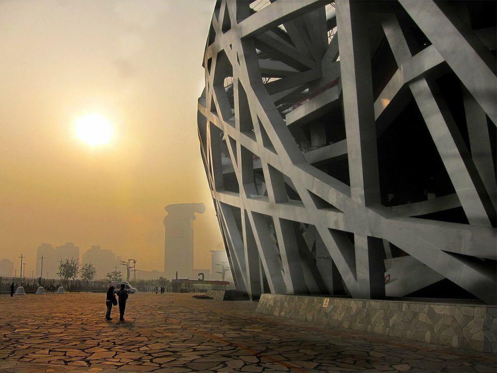 Chine - Pékin, nid d'oiseau, smog - voyage
