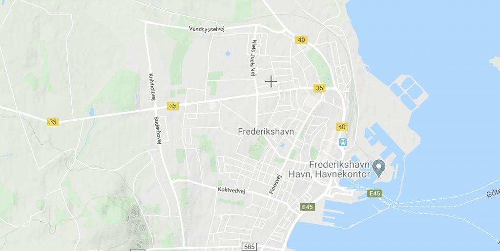 Danmark Frederikshavn kort rejser