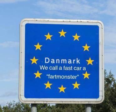 Rejsesjov - dansk grænseskilt