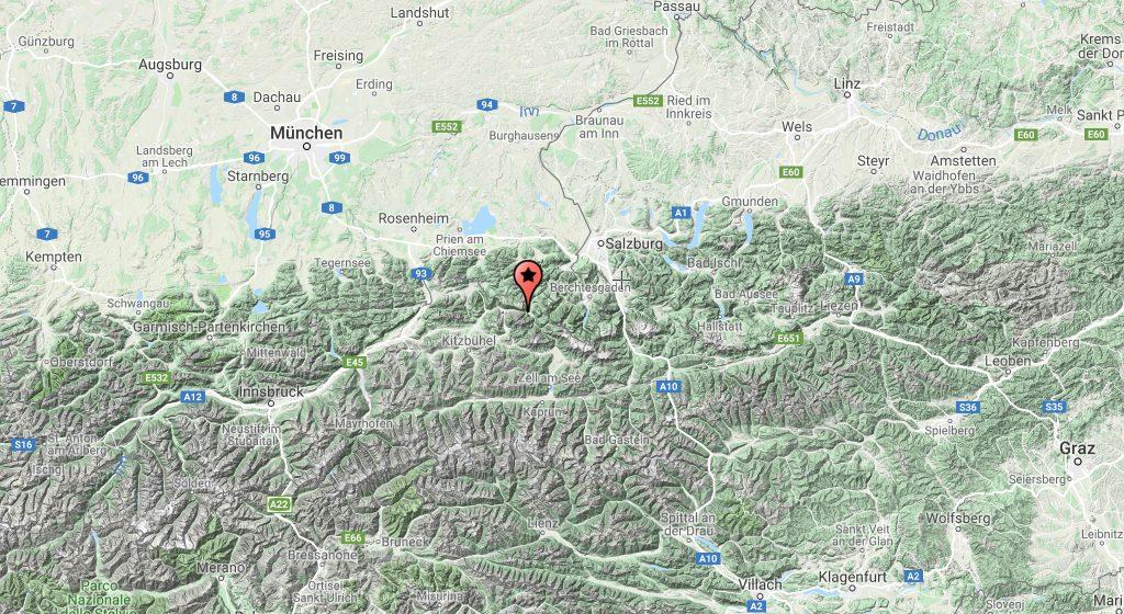 Austria, Mapa ng Saalachtal, Saalachtal