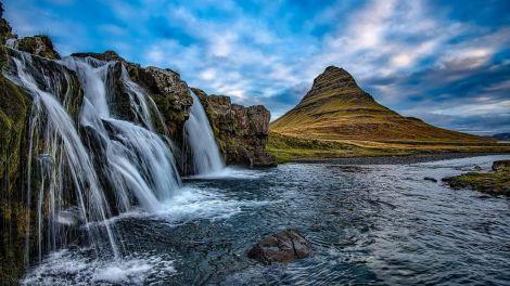 Island, natur, vandfald