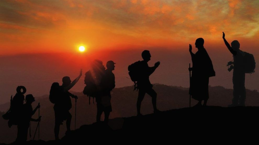 sunset, local, hiking