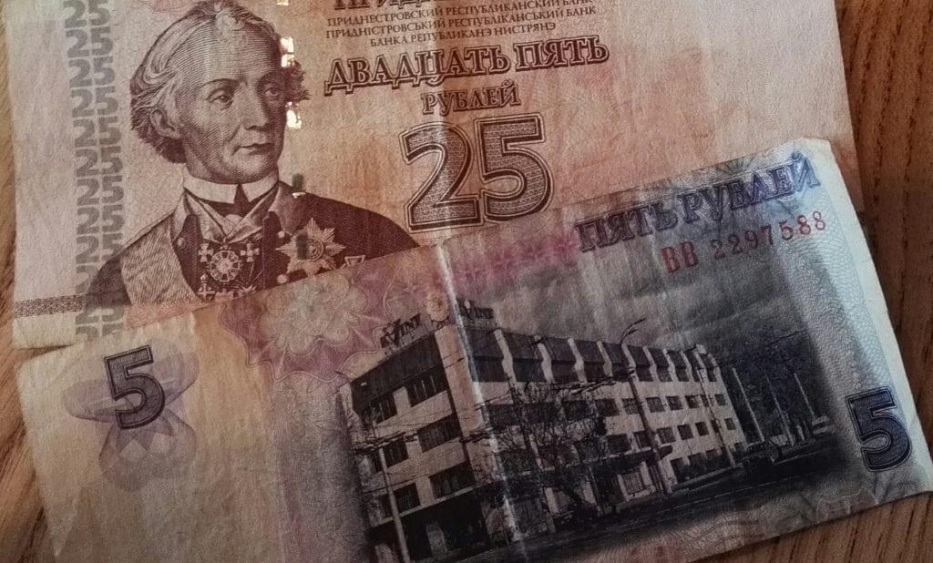 Moldova - Transnistrien, penge - rejser