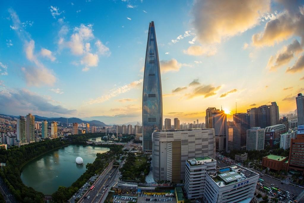 Sydkorea - Seoul, Lotte World Tower - rejser