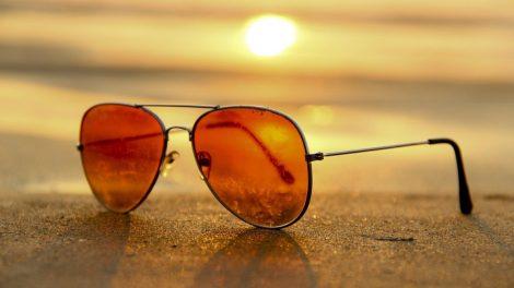 Solbriller, solnedgang