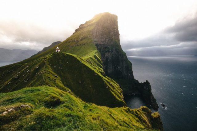 Фарерские острова - Зеленая гора - путешествия