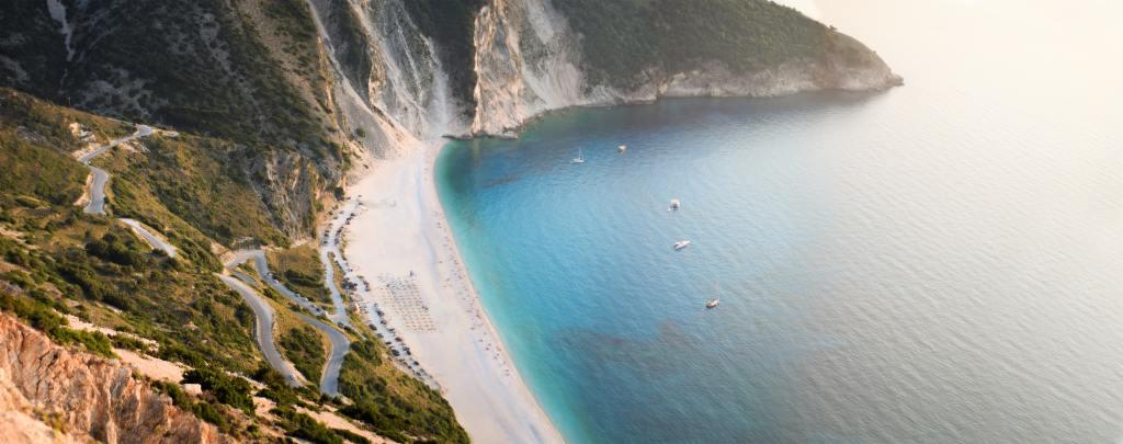 Kefalonia - greece - beach - travel - myrtos
