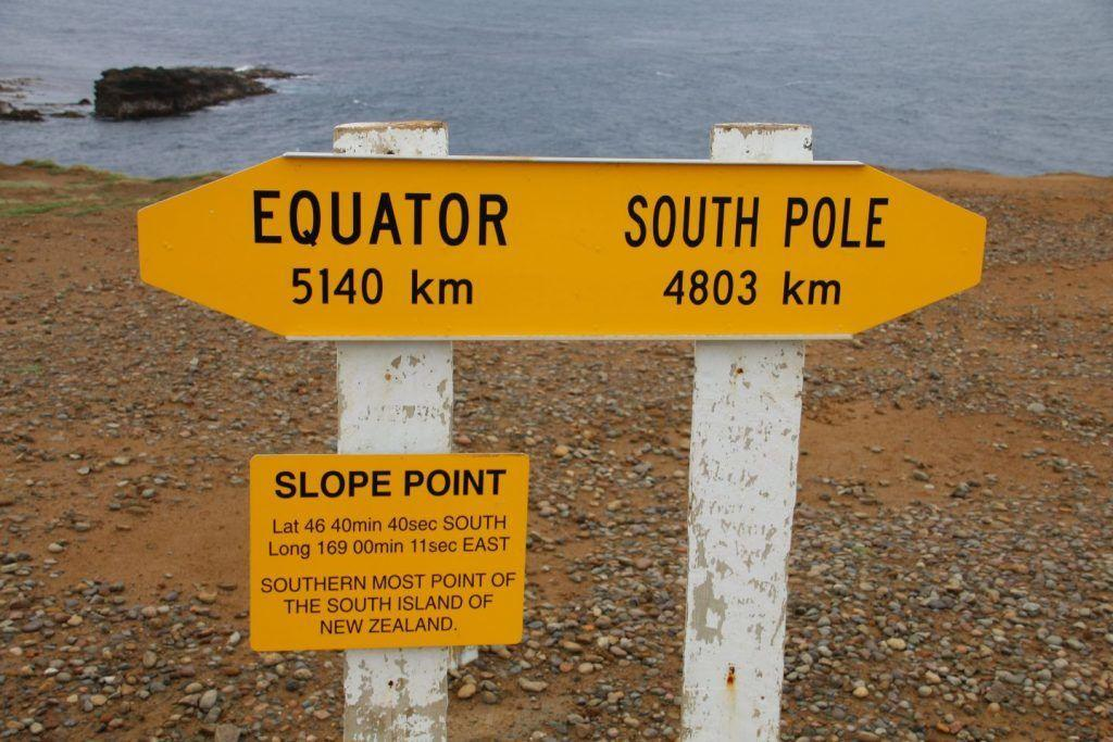 New Zealand South Island Southernmost Point Sign Travel