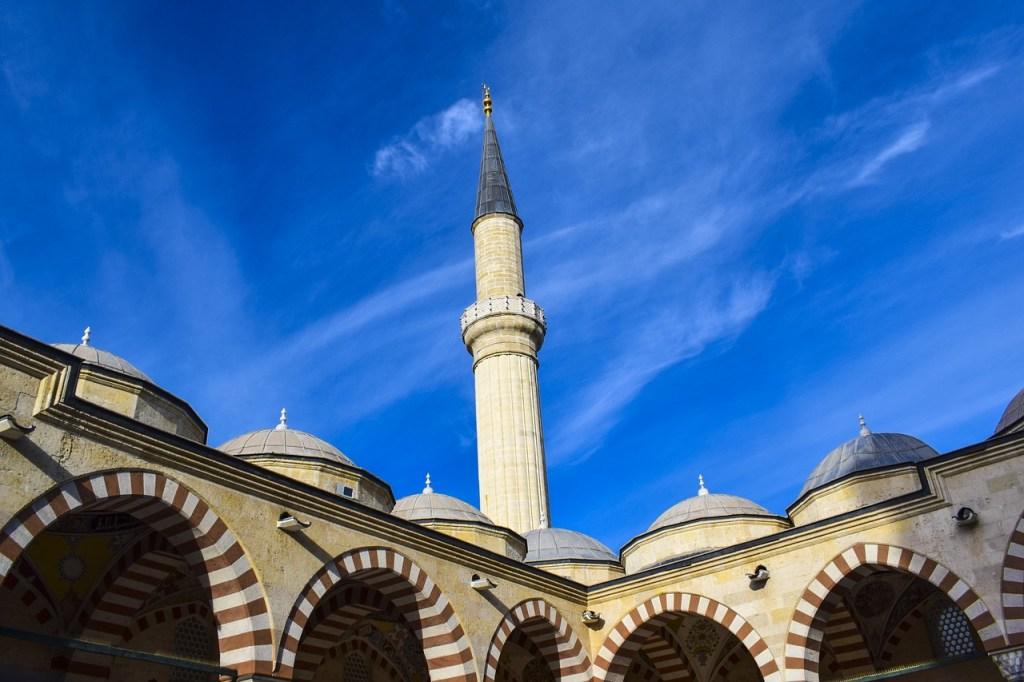 Tyrkiet Edirne Moske Blå Himmel Rejser