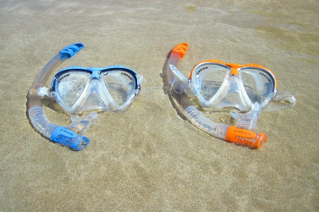 Dykkermasker, snorkel - rejser