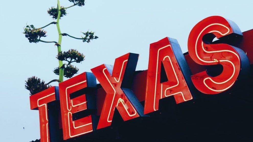 USA Texas Marfa Sign Travel