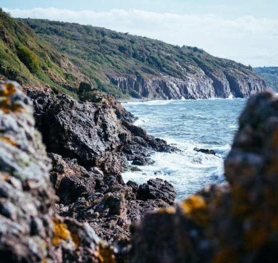 Denmark Bornholm island rock travel