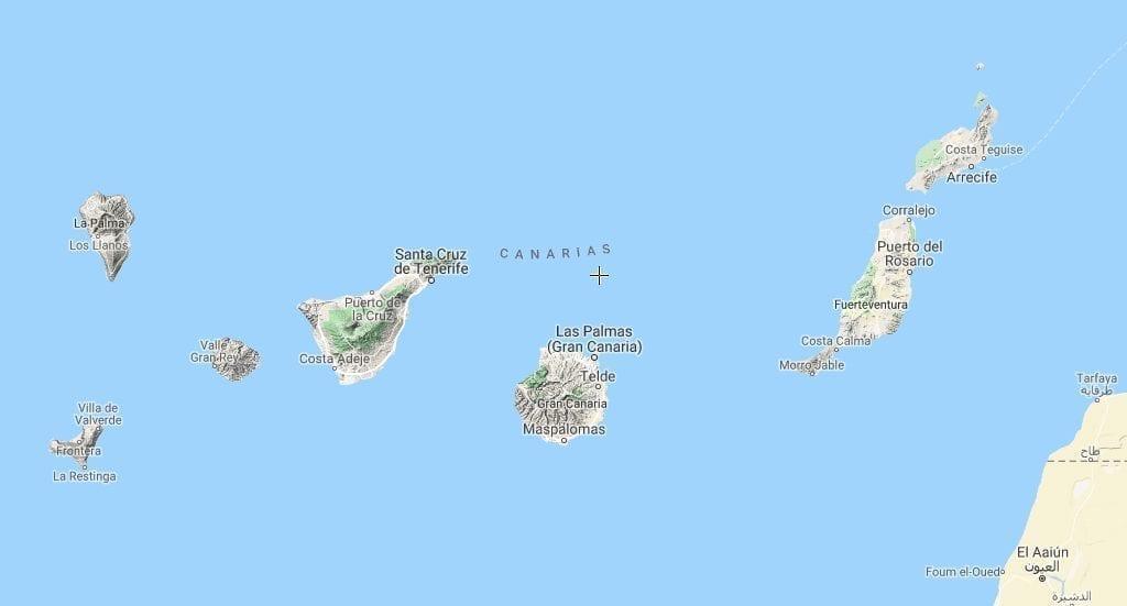 Spanien Gran Canaria Kort Rejser