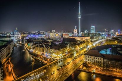 Tyskland Berlin Berlinblog Udsigt radiotårn rejser