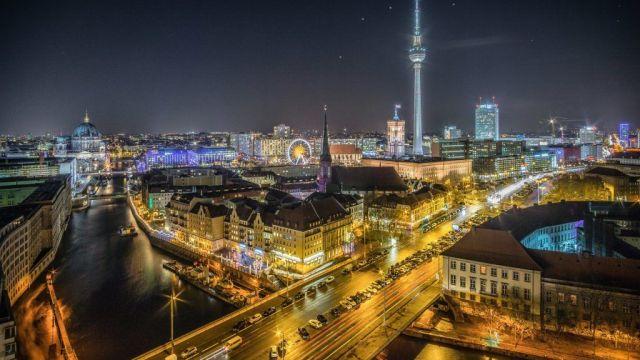 Tyskland Berlin Udsigt radiotårn rejser
