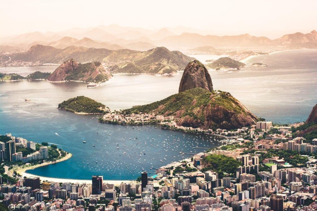 Brasil - Rio de Janeiro - utsikt - reise, verdens sju underverk
