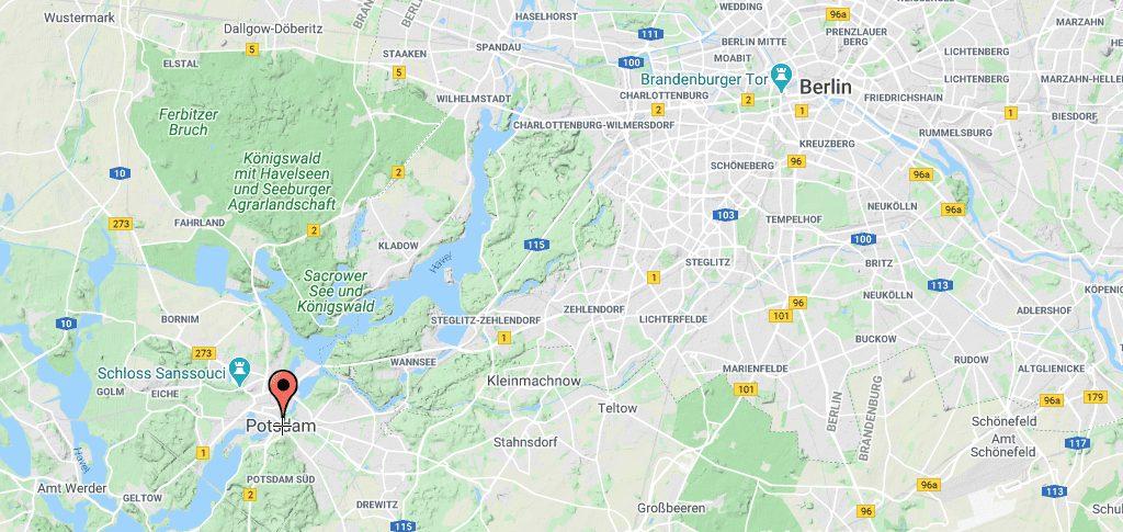 Tyskland Potsdam Kort rejser