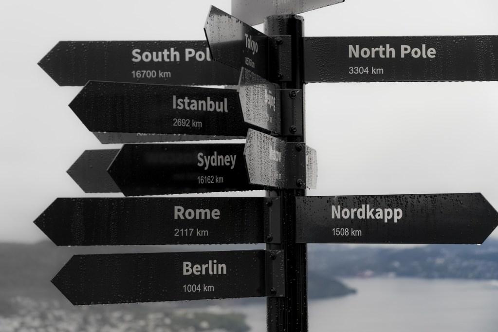 Norwegen - Bergen. Zeichen - Reisen