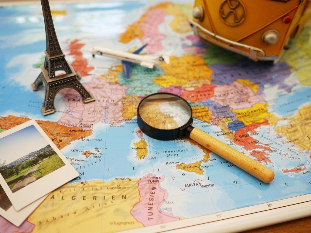Kart, Atlas, planlegging, reise - flytte til utlandet